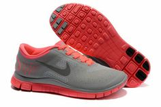 Hot Punch Pink Womens Nike Free Cool Grey 511527 600 Running Shoes got these! Nike Free 4.0, Nike Free Shoes, Nike Store, Nike Air Max 2011, Nike Pas Cher, Tiffany Blue Nikes, Nike Neon, Pink Nikes, Roger Federer