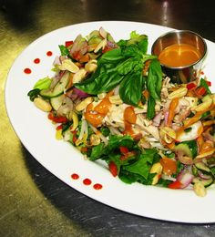Tigers & Strawberries » Thai Chicken Salad With Peanut Chili Dressing