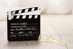 Filmklapper als uitnodiging | Tadaaz
