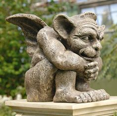 Toscano Emmett the Gargoyle Sculpture Ornament. #Halloween #Event #Gothic #Horror #Sculptures