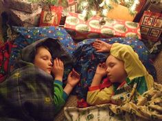 Traditions. Sleep underneath your Christmas tree one night. Keep the tree lights on, read holiday stories, and snack on holiday treats.