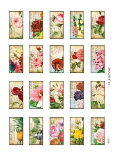 Shabby Chic English Garden Digital Collage Sheet by GalleryCat, $3.70