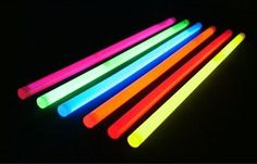 List of 20 awesome glow stick ideas (could be great for birthday parties or other celebrations)