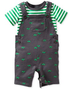Carter's Baby Boys' 2-Piece T-shirt & Turtle Overalls Set - Kids Baby Boy (0-24 months) - Macy's