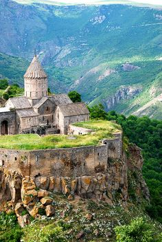 The 9th century old Tatev Monastery in Syunik Province, Armenia (by mapix92).