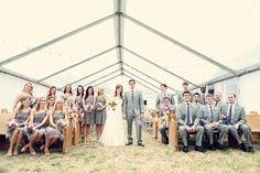 A beautiful wedding party shot | Frozen Exposure Photography