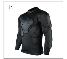 [Visit to Buy] Survetement football 2017 American Football Jerseys sports safety protection thicken soccer goalkeeper jersey elbow protector #Advertisement