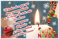A todos los que me han acompañado a lo largo de este año les deseo las mayores alegrías y prosperidad en el año nuevo.