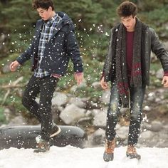 My babes Cameron Dallas and Nash Grier for the Aeropostale winter photo shoot, my babes are growing up