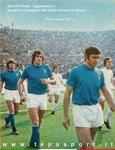 20-9-1972 Italia - Jugoslavia 3-1 Tarcisio Burgnich, Giorgio Chinaglia e Gianpietro Marchetti ... C'ero anch'io ... http://www.tepasport.it/ Made in Italy dal 1952