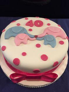 Elephant 40th birthday cake
