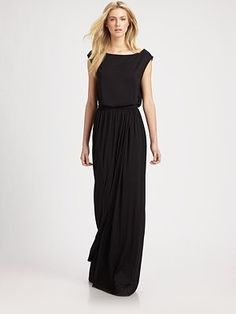 Boatneck maxi dress. Beautiful.