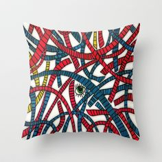 Through The Wire Throw Pillow by DuckyB (Brandi) - $20.00