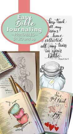 I love these instant downloads for my Bible journaling. Just print, put under your Bible page, trace, and get creative. And since they are so budget-friendly, starting at $1.50, I can easily buy multiples. Winning! #affiliate #biblejournaling #bible #journal
