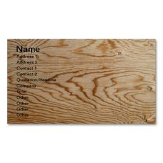Designer Wood Grain Business Cards. Make your own business card with this great design. All you need is to add your info to this template. Click the image to try it out!