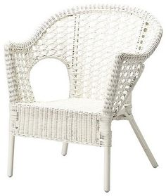 Finntorp Chair, White traditional-outdoor-chairs Classic white wicker