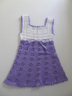 Knit Baby Dress  Mercerized Cotton  Handmade  by HunnybeeCrafts, $35.00