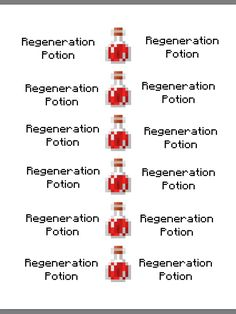 Minecraft Party Free Printable Swiftness Potion I Placed