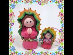 Virgen de Guadalupe tutorial en porcelana fria o pasta de goma - YouTube