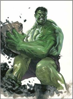 Hulk by Gabriele Dell'Otto #GabrieleDell'Otto #TheIncredibleHulk #Hulk #BruceBanner #TheDefenders #Avengers #TheHulk