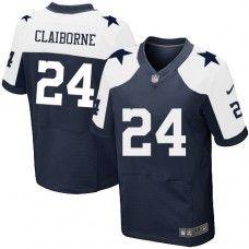Mens Nike Dallas Cowboys http://#24 Morris Claiborne Elite Navy Blue Throwback Alternate Jersey
