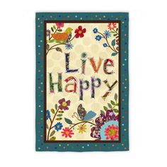 IAmEricas Flags - Live Happy Suede Reflections Garden Flag, $14.00 (http://www.iamericasflags.com/products/live-happy-garden-flag.html)