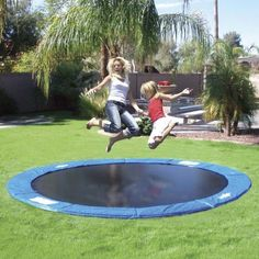 Trampolines On Sale! Are you searching for a massive Trampoline Set for your backyard? Look no further than Trampolines from Family Leisure! In Ground Trampoline, Backyard Trampoline, Backyard Playground, Fun Backyard, Sunken Trampoline, Trampoline Ideas, Backyard Toys, Playground Ideas, Casa De Campo
