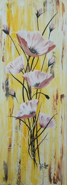 Peinture acrylique sur toile 30x80 By Raffin Christine Facebook : L'étoile de Chris