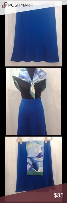 """Talbots Blue Skirt Talbots blue skirt.  Length 25"""". Scarf included (32"""" square). Talbots Skirts A-Line or Full"""