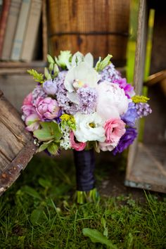 Great purple, lavenders, and pink hues make this bouquet a top notch pick.