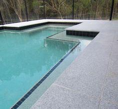 Light Grey Granite paving stones pool