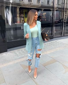Super Stylish Fall Fashion Ideas for Women Casual Work Outfits, Business Casual Outfits, Classy Outfits, Stylish Outfits, Pink Blazer Outfits, Casual Wear, Look Fashion, Autumn Fashion, Fashion Outfits