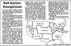 Satire on the divestiture of the Bell System