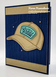 Masculine Birthday Cards, Masculine Cards, Hat Patches, Stampin Up Catalog, Dad Caps, Scrapbook Cards, Scrapbooking, Stamping Up Cards, Card Tutorials