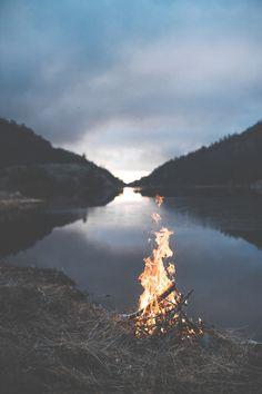 Bonfire at the Lake