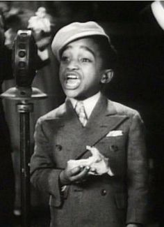 """a young Sammy Davis Jr. in """"Rufus Jones for President"""", 1933 Sammy Davis Jr, Young Celebrities, Celebs, Vintage Black Glamour, Black History Facts, African American History, Look At You, My People, Famous Faces"""
