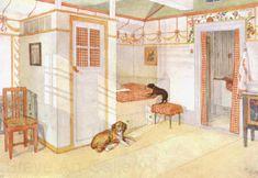 Carl Larsson: Swedish Realist Painter, 1853-1919 ~ 'Joupjoup and kiki'