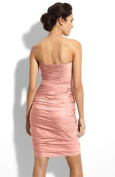 I know this one is a bit more expensive than the others, but I'd totally wear it again!  ML Monique Lhuillier Bridesmaids Ruched Strapless Cationic Chiffon Dress (Nordstrom Exclusive) | Nordstrom