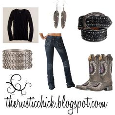"""Lucky Cowgirl"" by therusticchick on Polyvore www.therusticchick.blogspot.com"