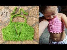 Calcinha em crochê para bebê / 01 a 04 meses - YouTube