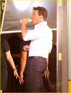 "Jon Hamm.  Have some shame man!  All in favor of adding Jon Hamm to the ""to be cloned"" list?  *Raises hand.*"