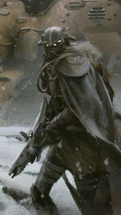 "Concept art for Bungie's ""Destiny"" video game"