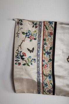 Chinese Embroidery, White Embroidery, Hand Embroidery, Machine Embroidery, Embroidery Designs, Chinese Patterns, Hanfu, Cheongsam, Dress Neck Designs