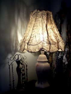Vintage, Shabby Chic, Lace, Lamp Shade (Available on Folksy.com, click if you're interested)