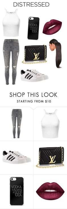 """Untitled #124"" by queenniyniy on Polyvore featuring River Island, adidas and Lime Crime"
