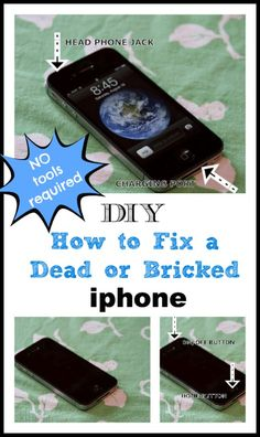 DIY How to Fix a Dead or Bricked iphone ~ No tools required ~ Creative Cain Cabin