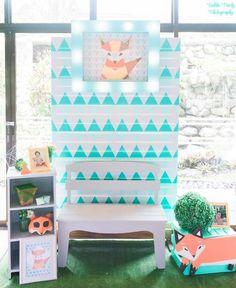 Jaime's Geometric Fox Themed Party – Photowall Geometric Fox, Party Themes, Party Ideas, Birthday, Birthdays, Ideas Party, Dirt Bike Birthday, Birth Day