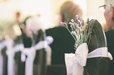 Schleife& Rosmarin oder Lavendel als Deko Kirche