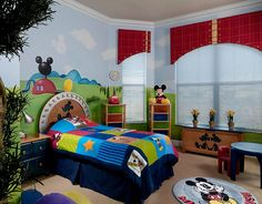 Colorful and creative Mickey-themed kids' bedroom [Design: Ruchidesigns]