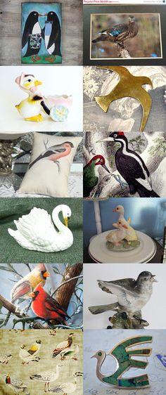 BIRD WATCHING, VINTAGE STYLE by Barb on Etsy, www.PeriodElegance.etsy.com  #epsteam #etsyvintage #vintagebirds